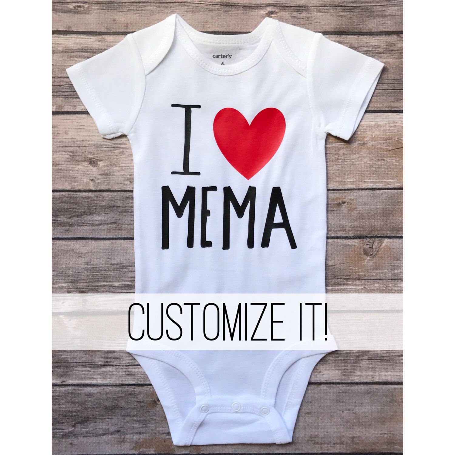 I love my grandma onesie CUSTOMIZE IT newborn shower t boy