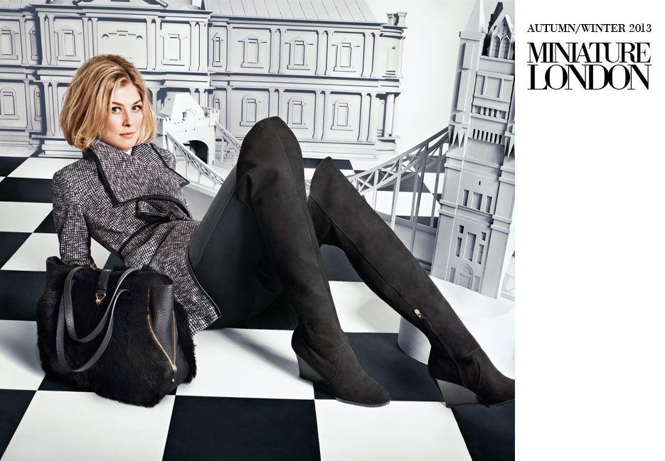 L.K.Bennett Autumn / Winter 2013 Campaign. Miniature London featuring Rosamund Pike.
