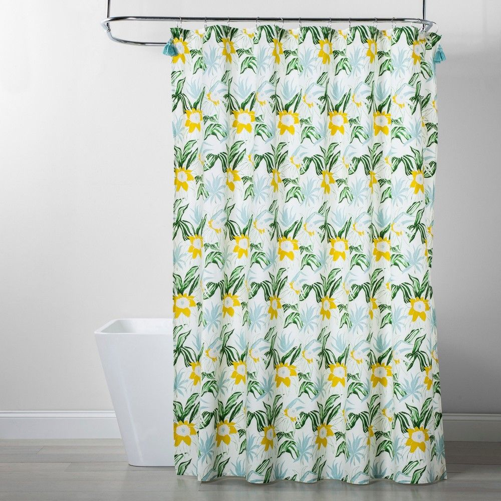 Floral Shower Curtain Opalhouse Green Floral Shower Curtains Curtains Shower