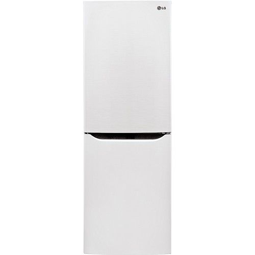 LG - 10.1 Cu. Ft. Counter Depth Bottom-Freezer Refrigerator - Smooth White - Larger Front
