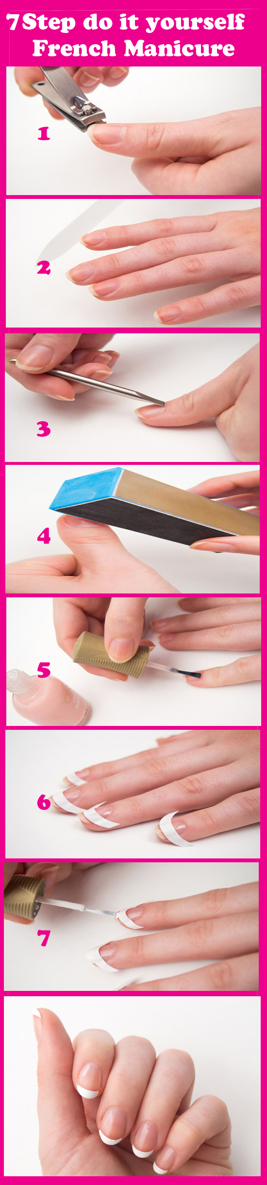 7 step do it yourself french manicure easy french manicure nail 7 step do it yourself french manicure easy solutioingenieria Images