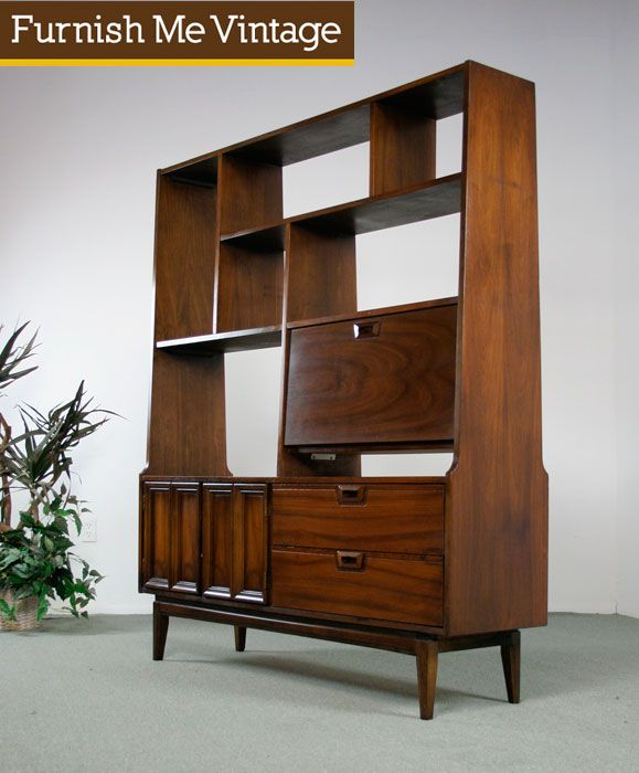mid century modern room divider bookcase reminds me of my old g plan cabinet