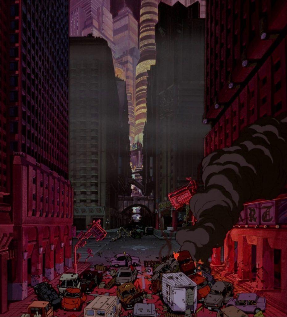 The Art Of Akira Original Backgrounds Akira Katsuhiro Otomo Cyberpunk City