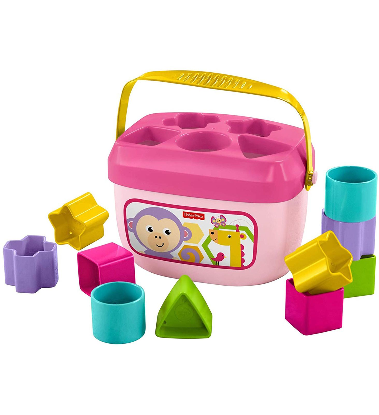 Fisher Price Fisher Price Baby S First Pink Blocks 11pc Set
