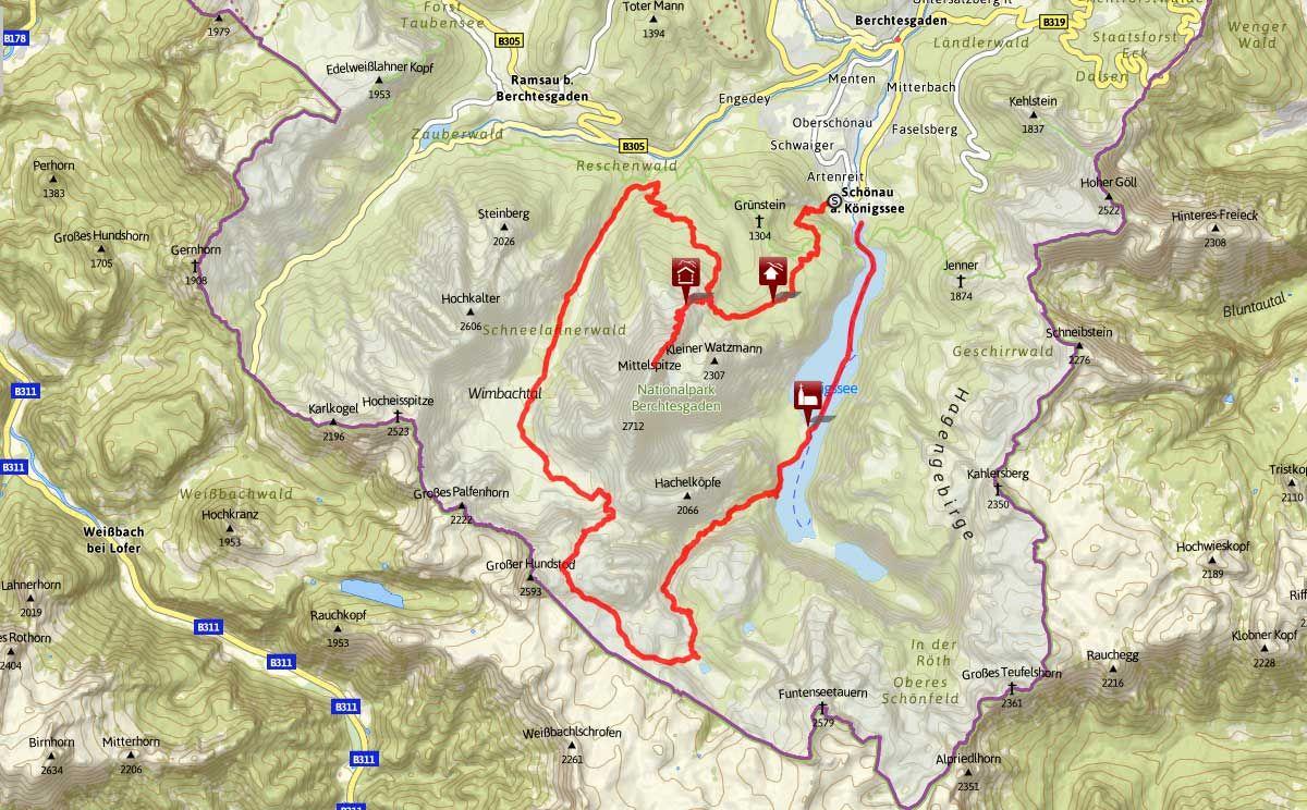 Watzmann Huttentrekking Urlaub Berchtesgaden Wallfahrt Watzmann