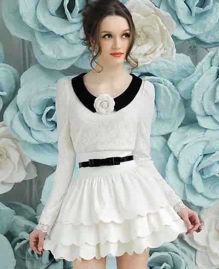 Saia Vintage Cintura Alta Branca - Promoção  Wow, Love this dress!  Love, love, love...