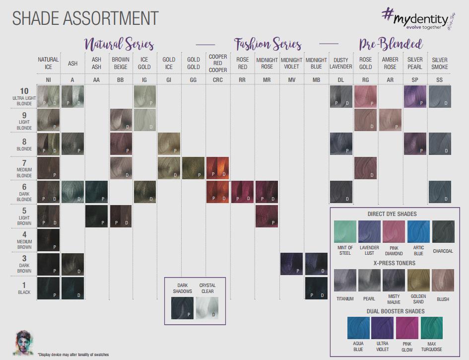 Mydentity Hair Color Chart Hair Color Chart Hair Color Ash Hair Color