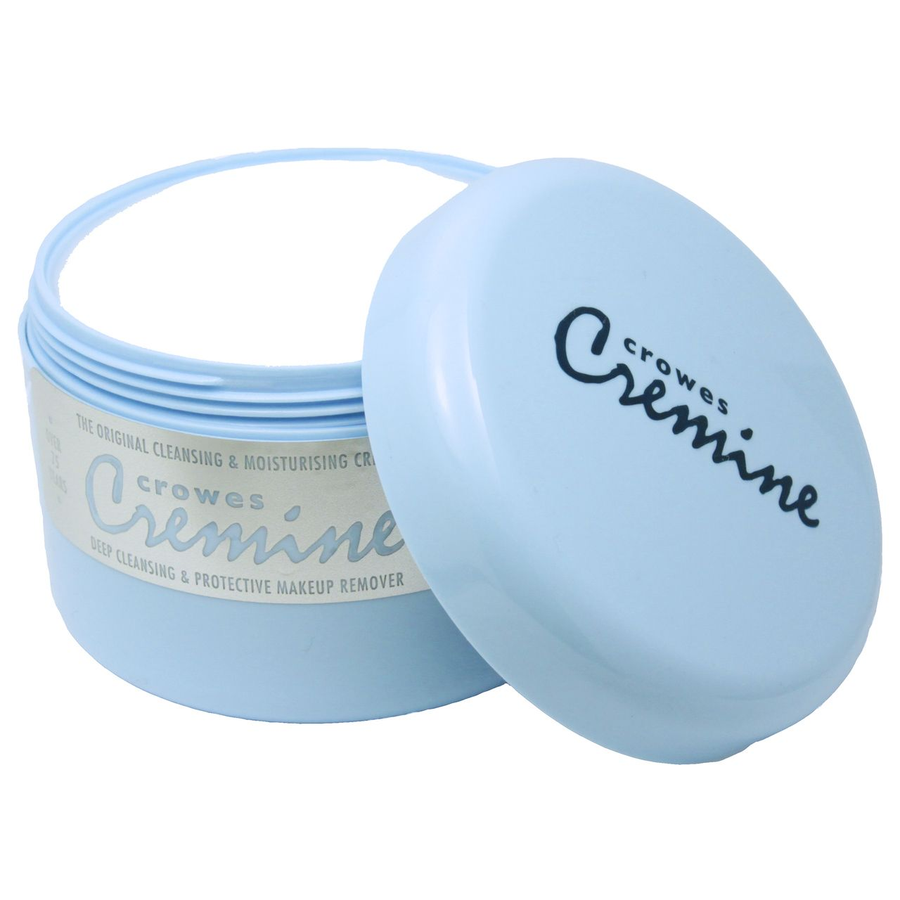 The original Crowes Cremine tub. Now available again - the customer favourite. The original cleansing cream used by the professional acting trade for over 75 years. The only effective way to remove stage makeup and a secret age defying solution for all skin types. Contains 200ml.