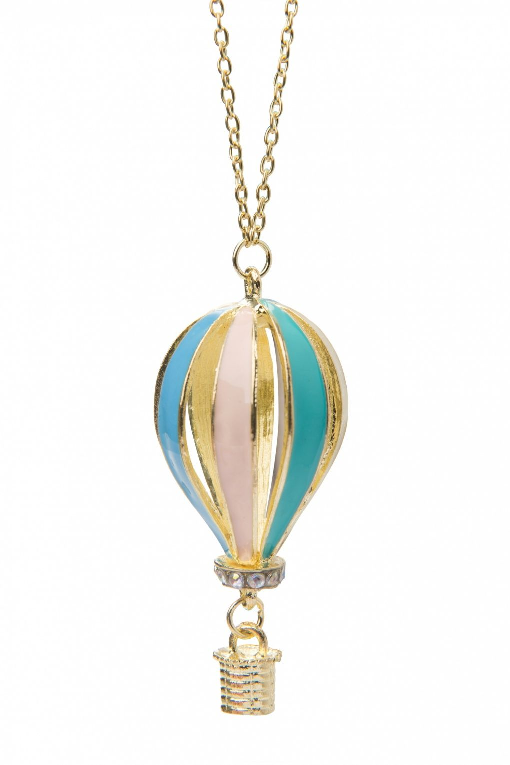From Paris with Love! - 20s Around the world in 80 days! Gold Enamel Necklace
