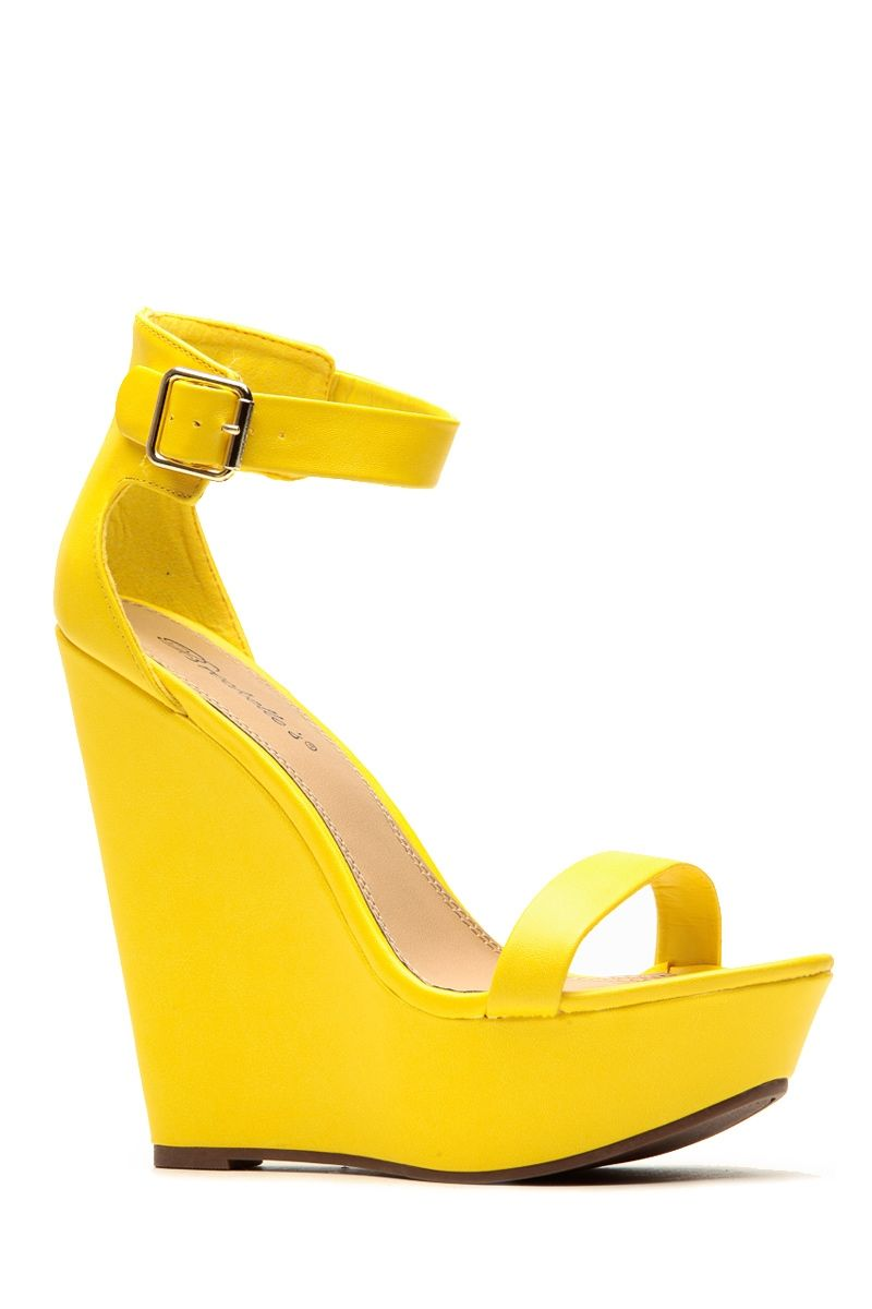 a245aebcb2 Breckelles Matte Vivi Yellow Wedge @ Cicihot Wedges Shoes Store:Wedge Shoes, Wedge Boots,Wedge Heels,Wedge Sandals,Dress Shoes,Summer Shoes,Spring Shoes,Prom  ...