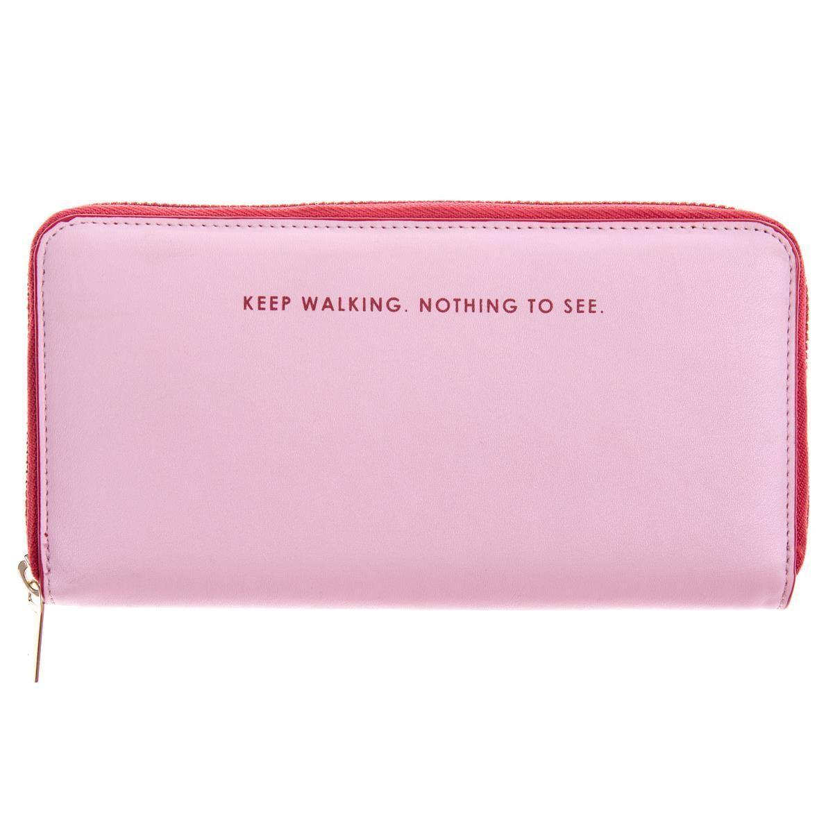 Keep walking nothing to see pink and red ziparound