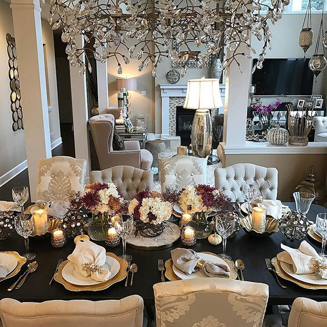 Happy Thanksgiving From My Family To Yours Farahmerhi Inspire Me Home Decor Dining Room Accessories Elegant Dining Room