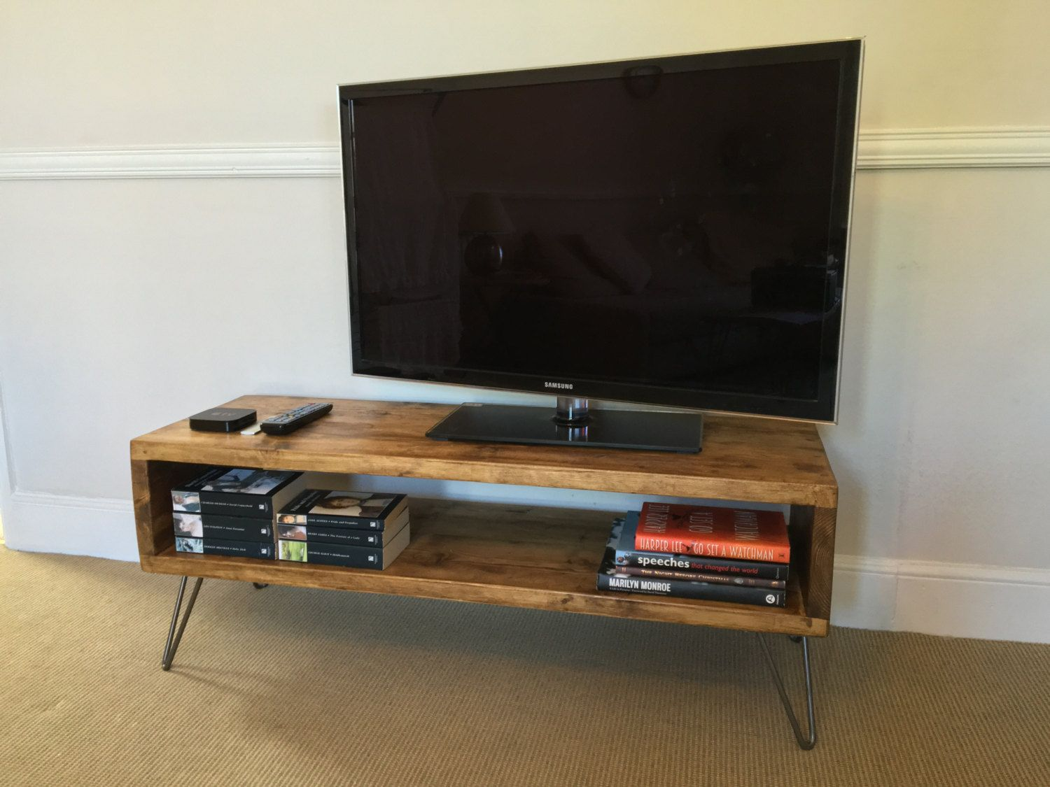 Rustic Wood Tv Stand Living Room Table Side Table Made From