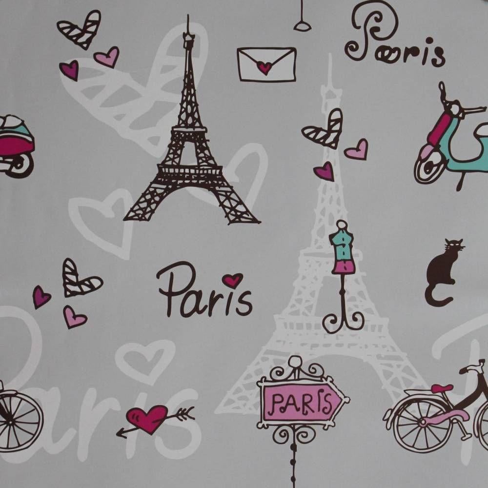 Papel De Parede Pa Ses Fran A Paris E Cora O 008 Ideias Para A  ~ Painel De Fotos Para Quarto Coração