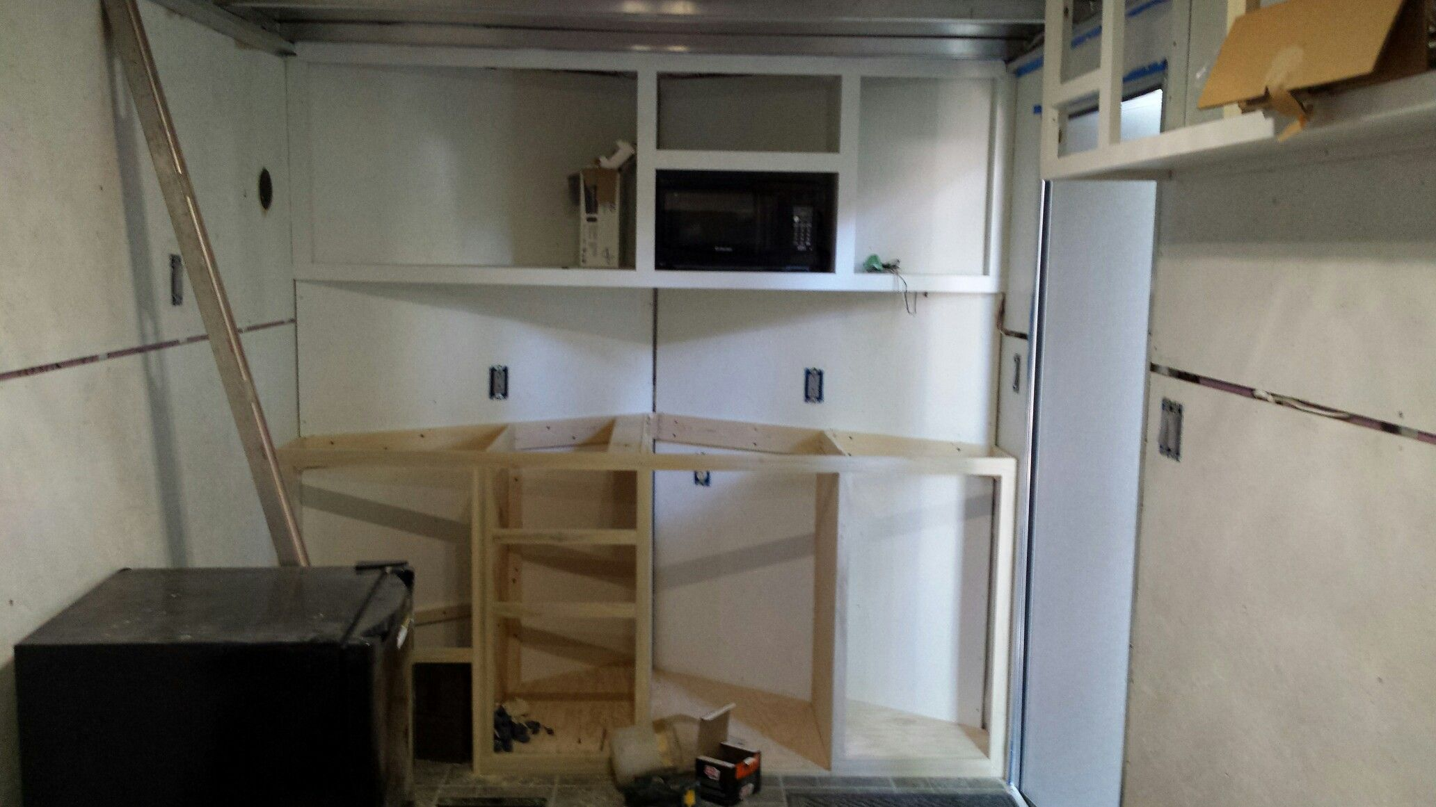 Begin Cabinets In V Nose And Upper Wall All Custom Built