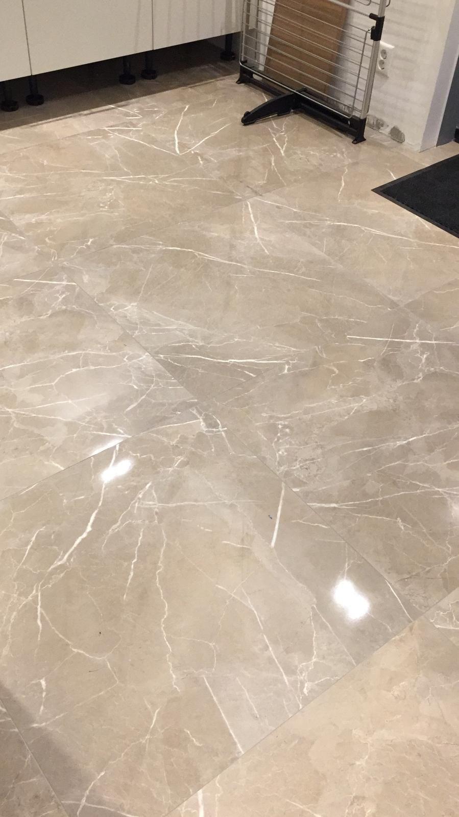 Hoogglans Vloertegel 80x80 Cm Marmerlook Taupe A79 Rb Tegels Tiel Floor Tile Design Living Room Tiles Floor Design