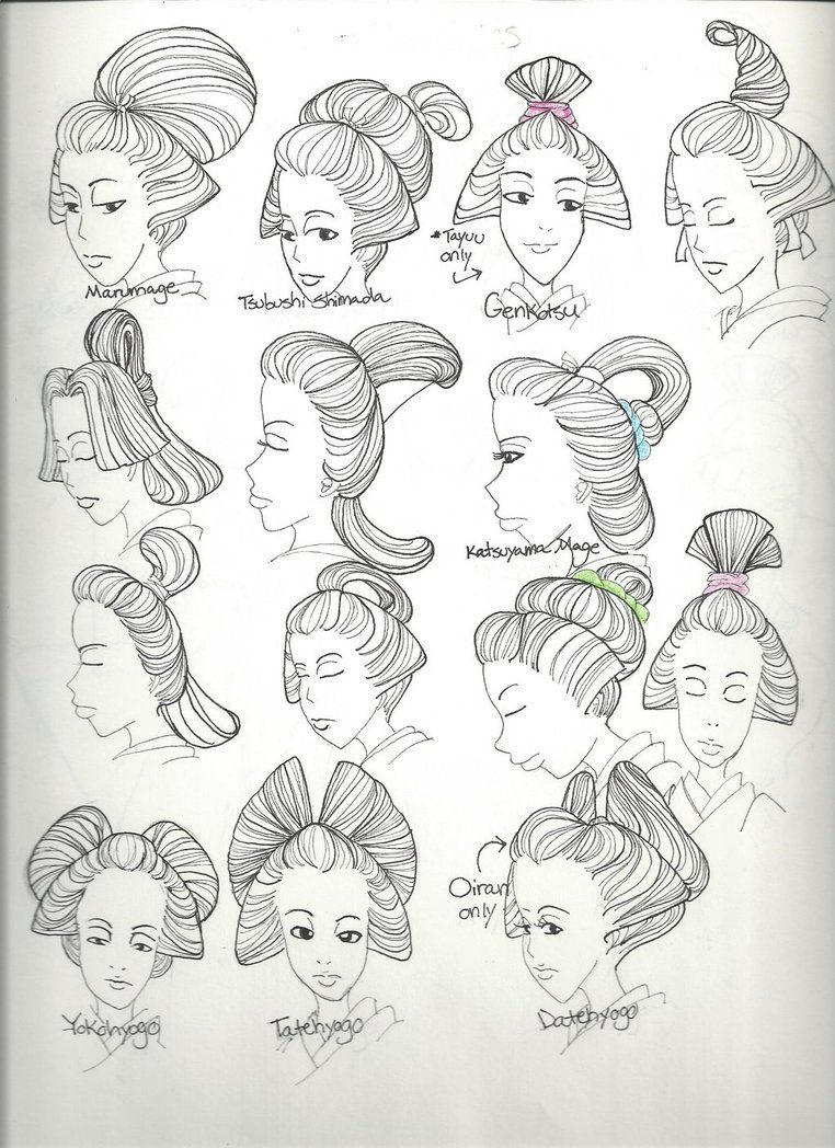 Masshiros Guide To Japanese Courtesan Hairstyles By Oyan