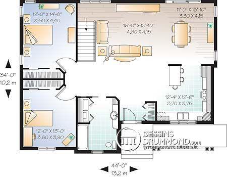 Détail du plan de Maison unifamiliale W2178 house plans - plan de maison design