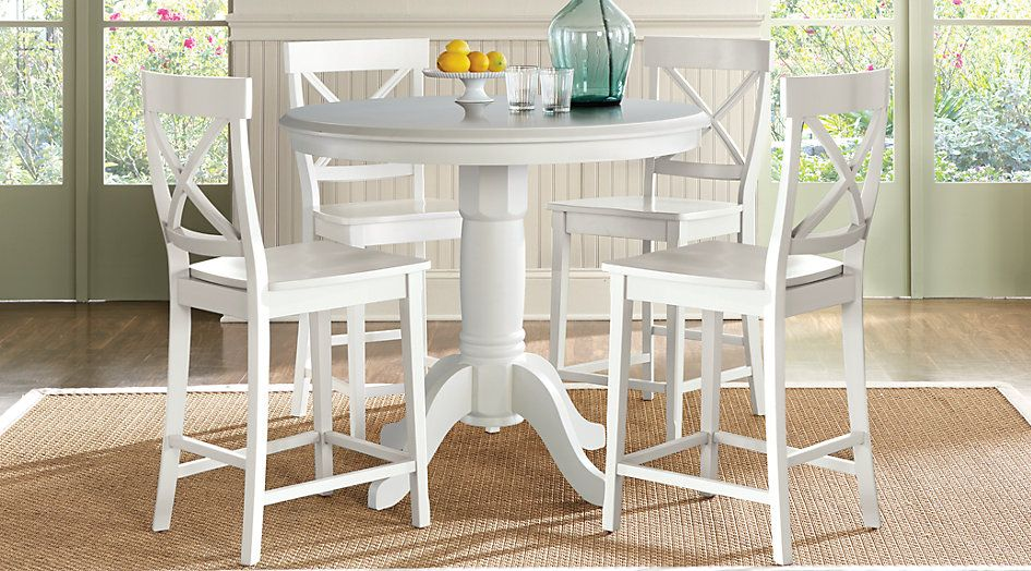 Brynwood White 5 Pc Counter Height Dining Set From Furniture Rooms