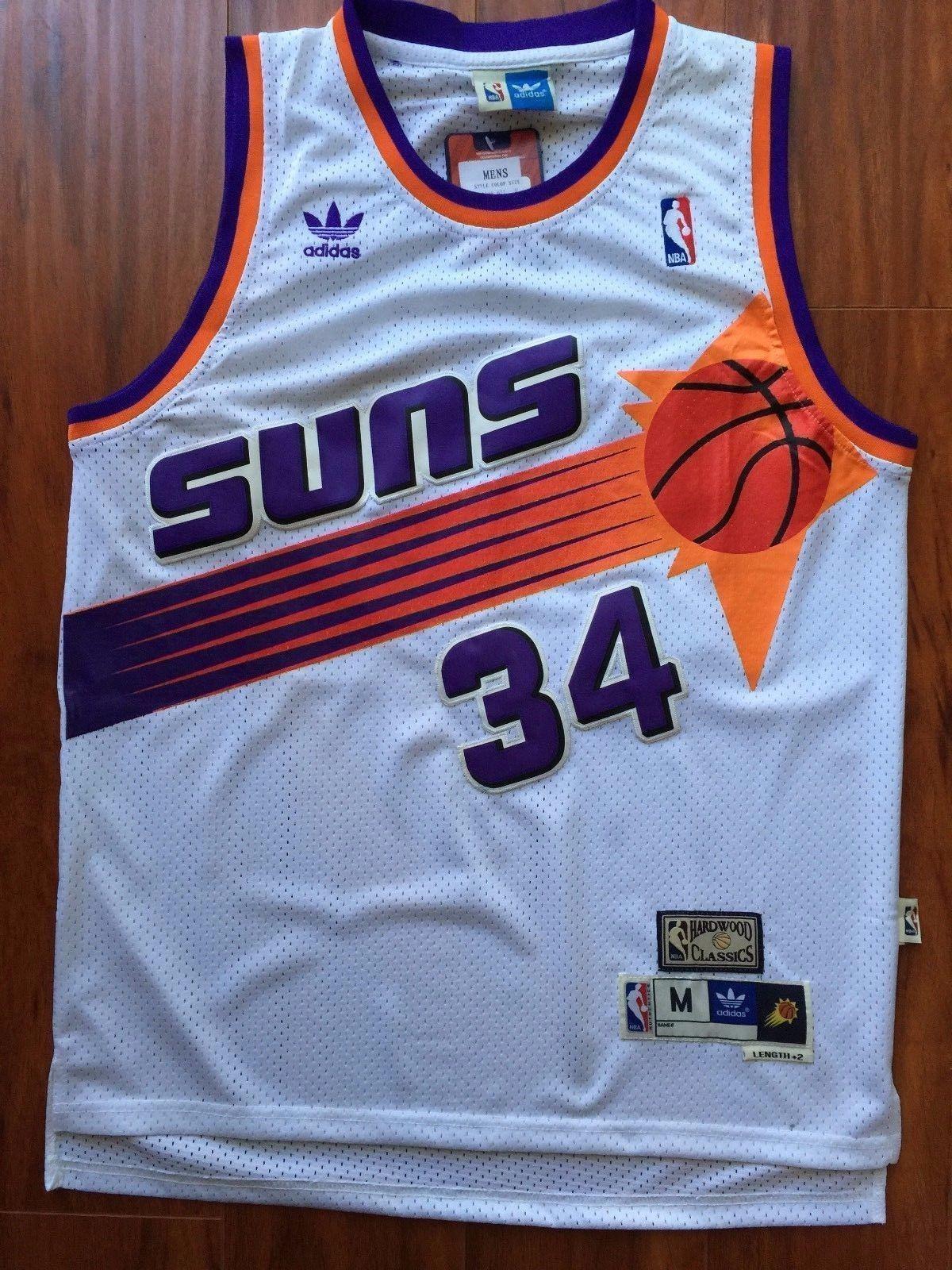 Men 34 Charles Barkley Jersey White Phoenix Suns Swingman Fanatics ...