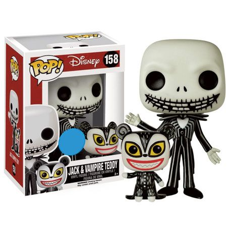Nightmare Before Christmas Pop Vinyl Figure Jack & Vampire Teddy ...