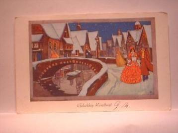 919291 Kerst oude kerstkaart 1951