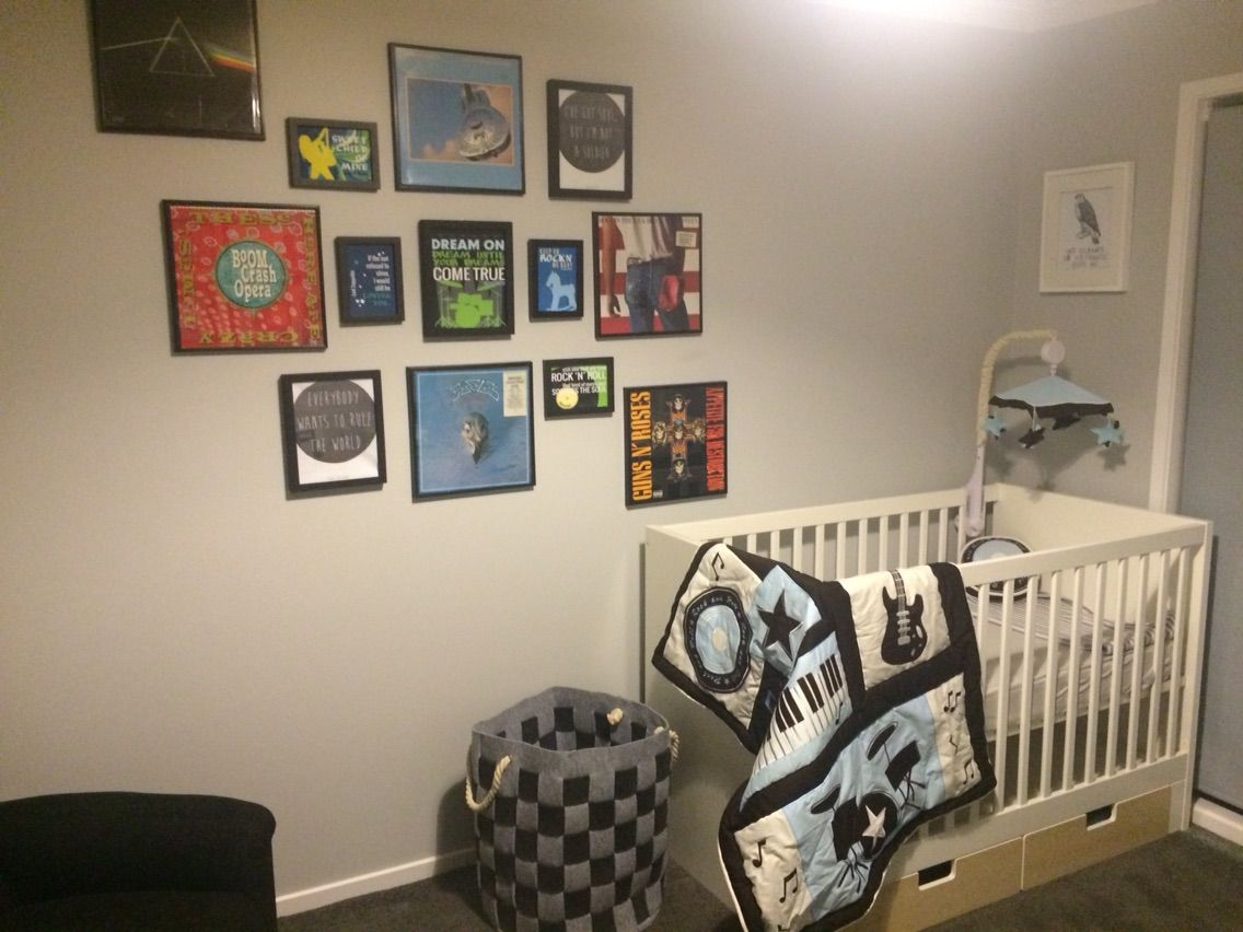 rock and roll nursery gallery set #PAPERRAMMA #MYCUSTOM ART
