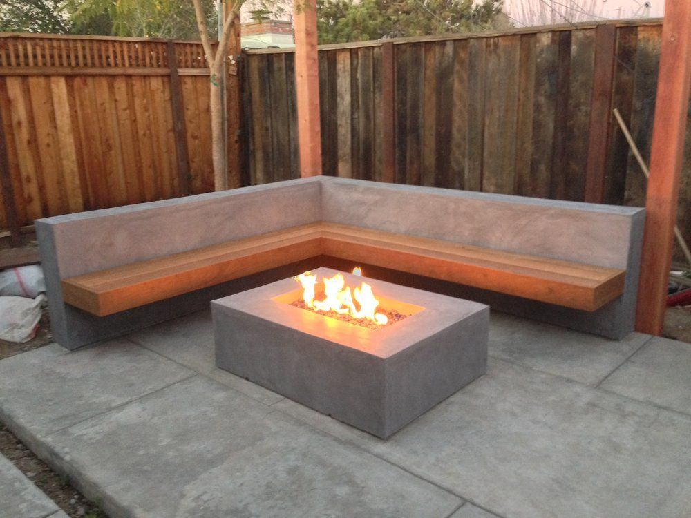 Mscape Design Floating Bench And Fire Pit Came Out Awesome San Jose Ca United States Contemporary Outdoor Furniture Design Backyard Patio
