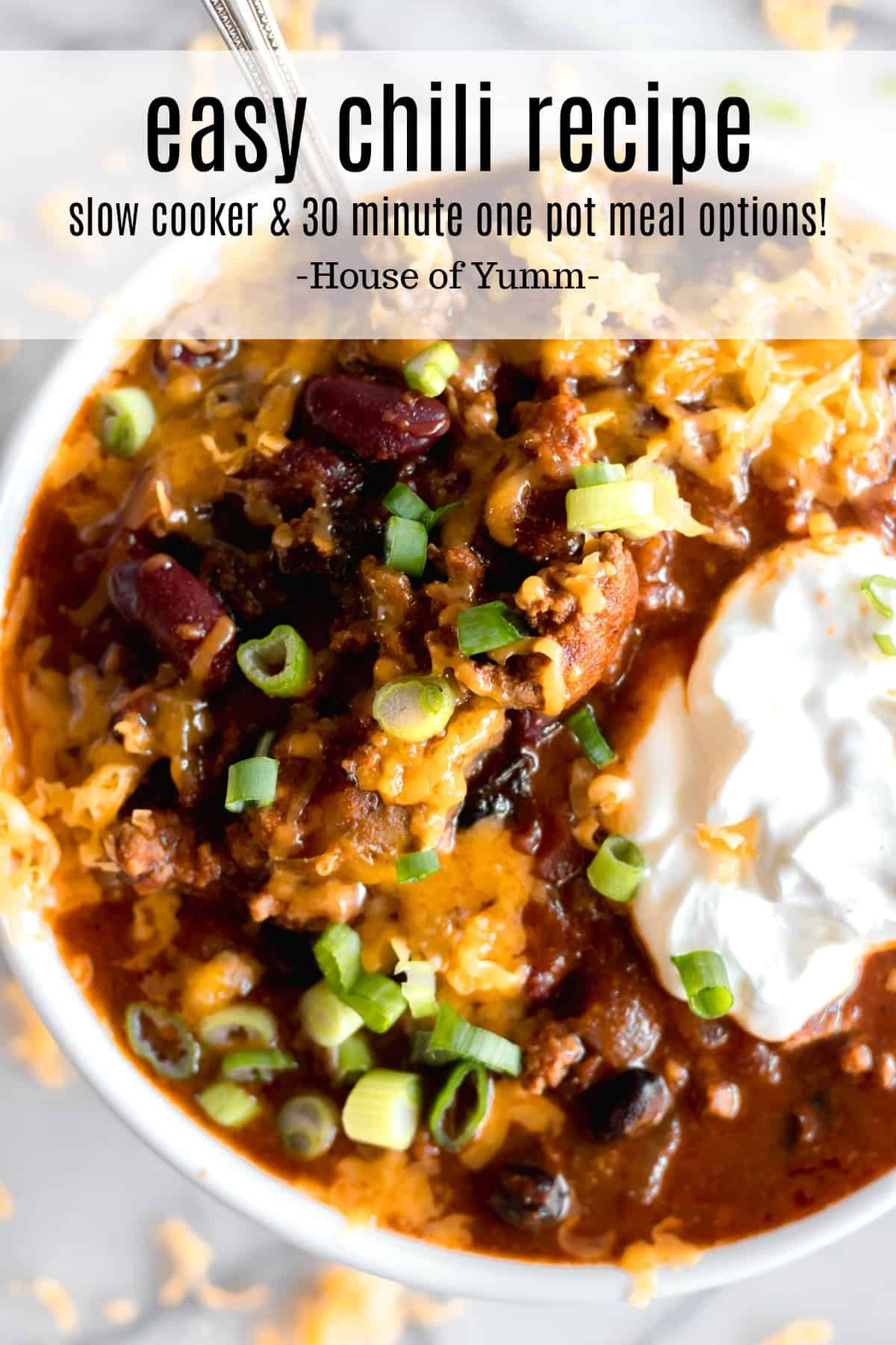 Best Chili recipe EVER Tastes like Wendys chili A wonderful easy recipe to make perfect for busy days Can be a 30 minute one pot meal or a slow cooker dinner