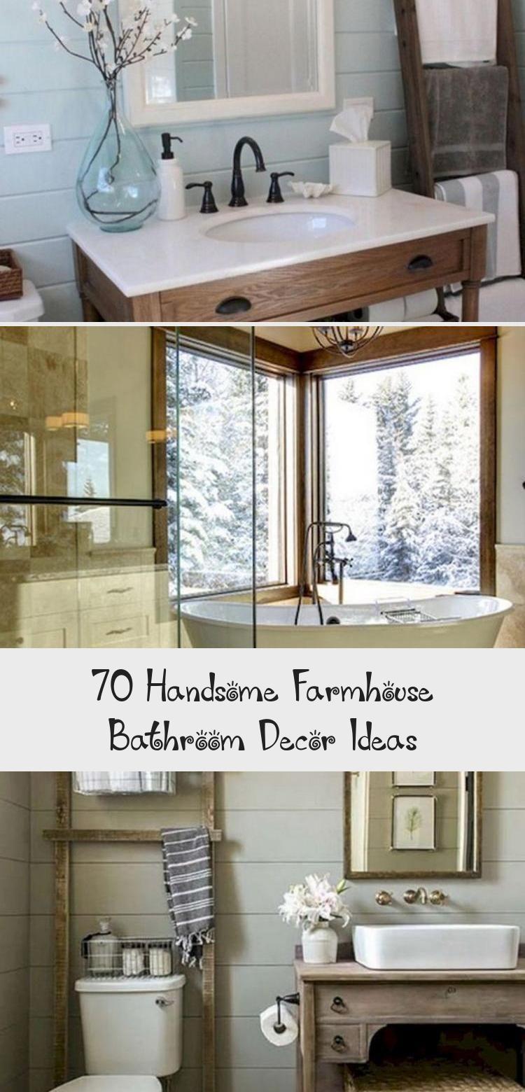 70 Handsome Farmhouse Bathroom Decor