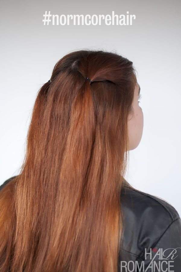 90s Inspired Normcore Hair Tutorials Half Up Double Ponytails And