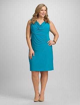 a6a40883a3c JONES STUDIO® Plus Size Ruched Drape Neck Dress. JONES STUDIO® Plus Size  Ruched Drape Neck Dress Dress Barn Dresses ...