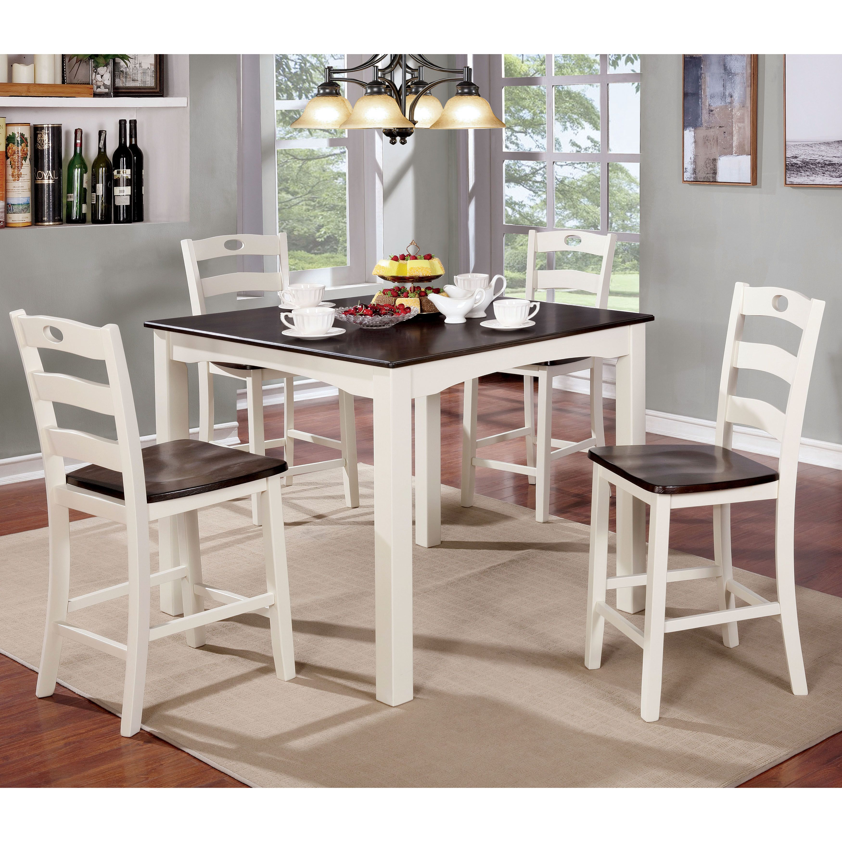 Furniture Of America Bellorama Cottage Style 5 Piece Two Tone