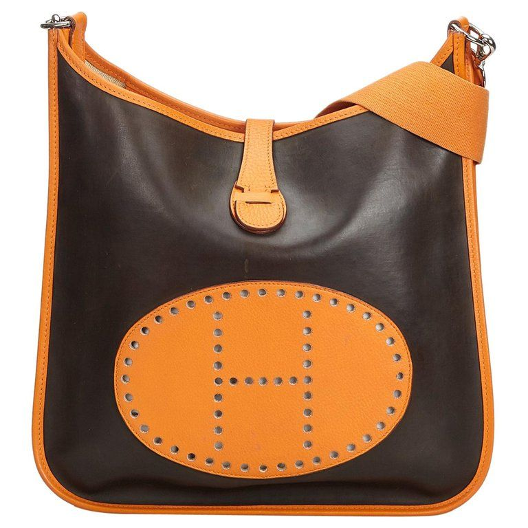 Photo of Hermes Brown Leather Evelyne GM