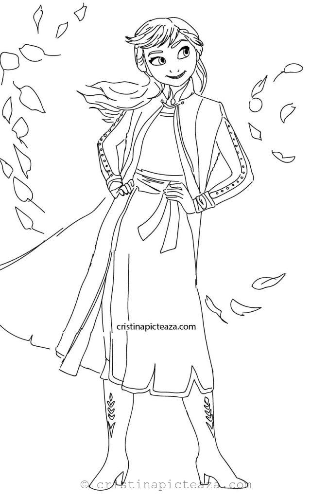 Anna from Frozen 2 Coloring Pages Cristina