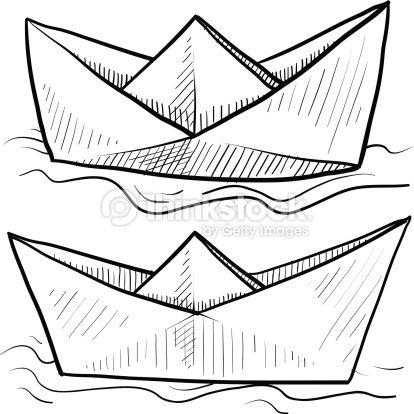barco de papel dibujo  Buscar con Google  Psters  Pinterest
