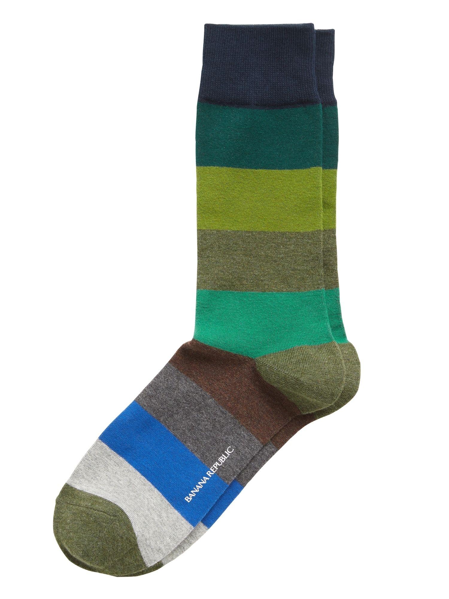 Rugby Stripe Sock Banana Republic In 2020 Mens Patterned Socks Striped Socks Mens Socks