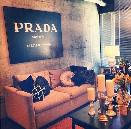 60x45 prada marfa print 60x45 inches. Black Bedroom Furniture Sets. Home Design Ideas