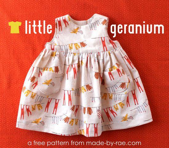 Free! Little Geranium Dress Pattern | Nähen Kind Rücke und Kleider ...