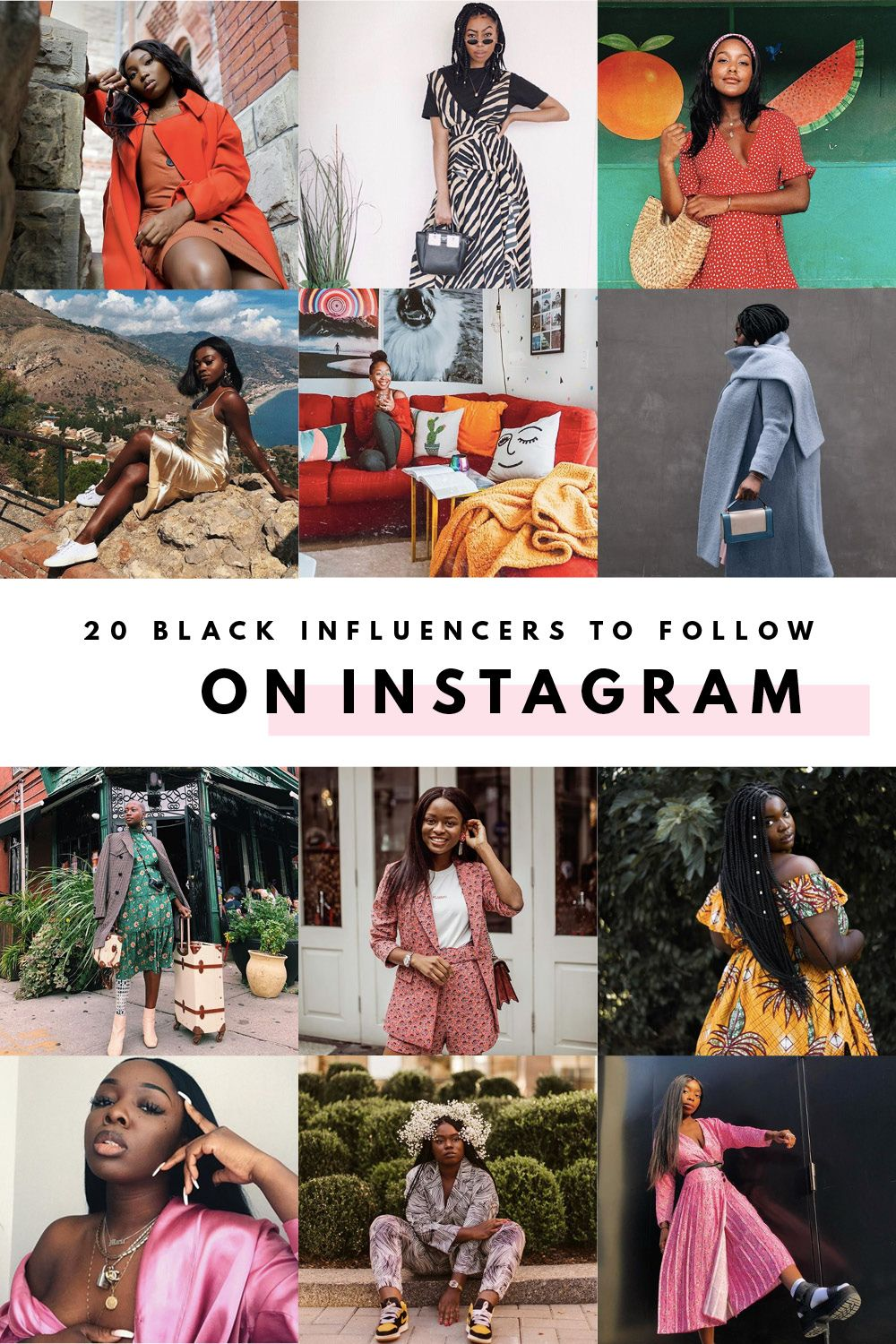 Bored Of Seeing An Instagram Feed That Isn T Diverse I M Sharing 20 Of The Best Black Fashion Trave Black Fashion Bloggers Black Girl Bloggers Black Bloggers
