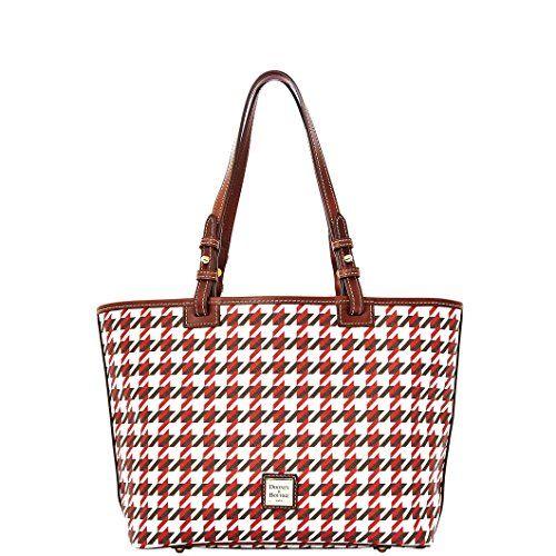 2d00b5bb3c71 Dooney   Bourke Houndstooth Small Leisure Shopper Handbag