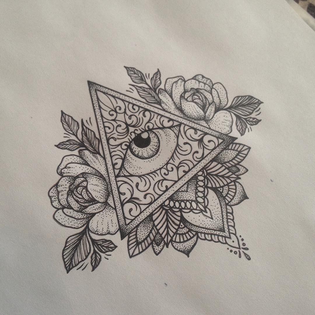 by medusaloux Triangle tattoos, Eye tattoo, All seeing