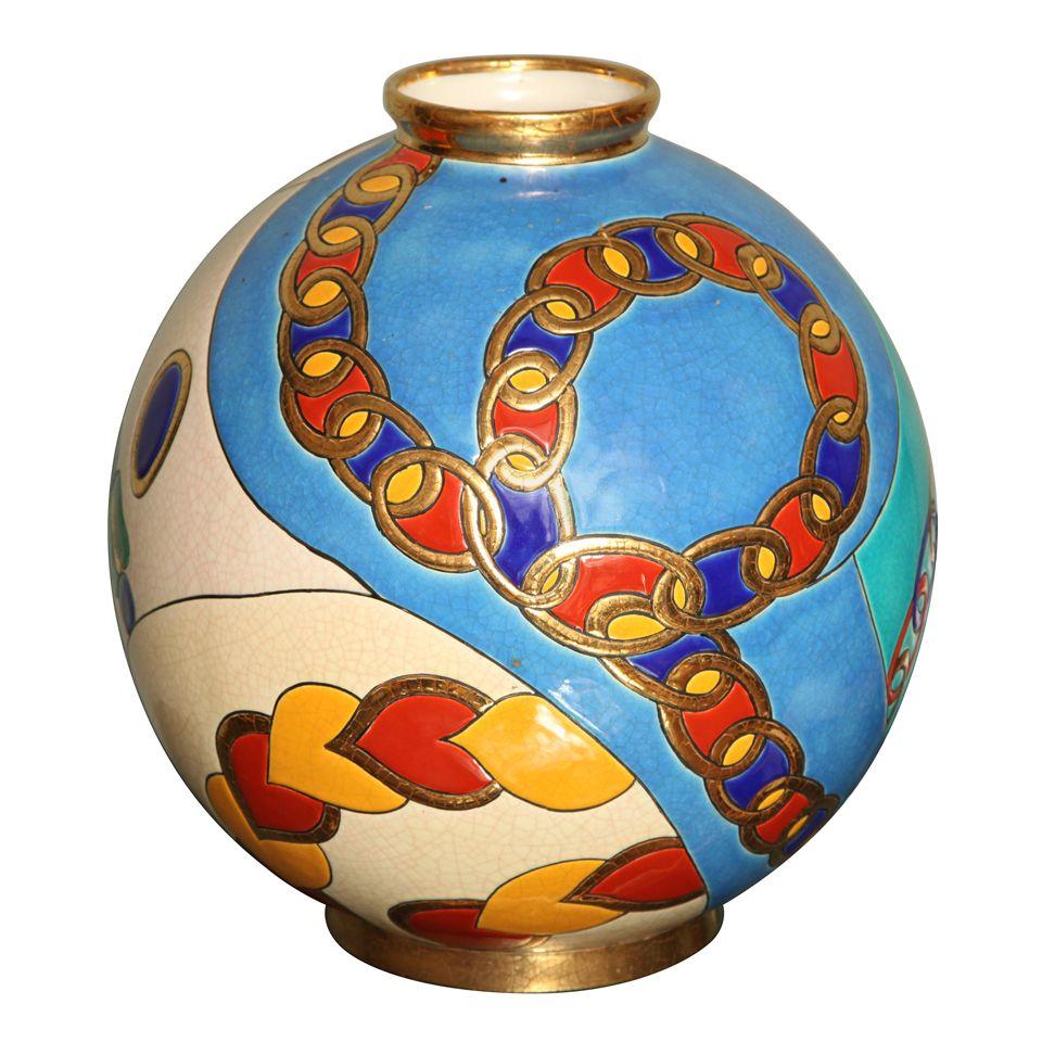 Longwy Enamelled Grand Boule Vase This Is More Than A Vase Boule Lamp