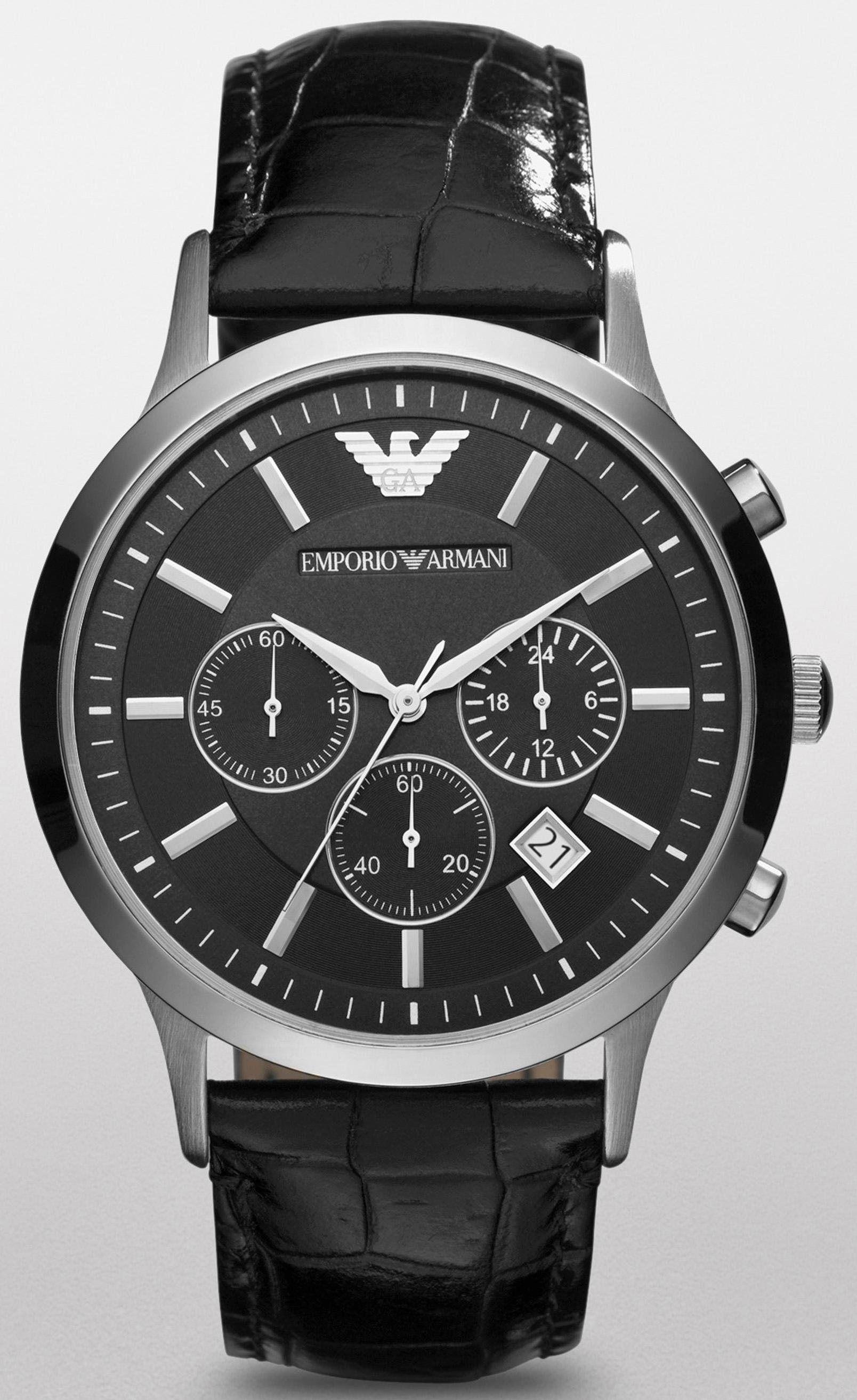 Emporio Armani Chronograph Ar2447 Jetzt Bestellen Unter Https Mode Ladendirekt De Herren Uhren C Armani Watches For Men Armani Watches Black Leather Watch