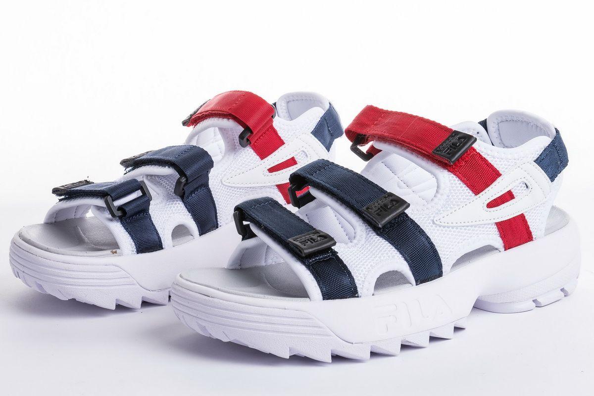 5c7191febc45 FILA disruptor2 sandal FS1HTZ3081X White Blue Red Girls Sandals for Sale3