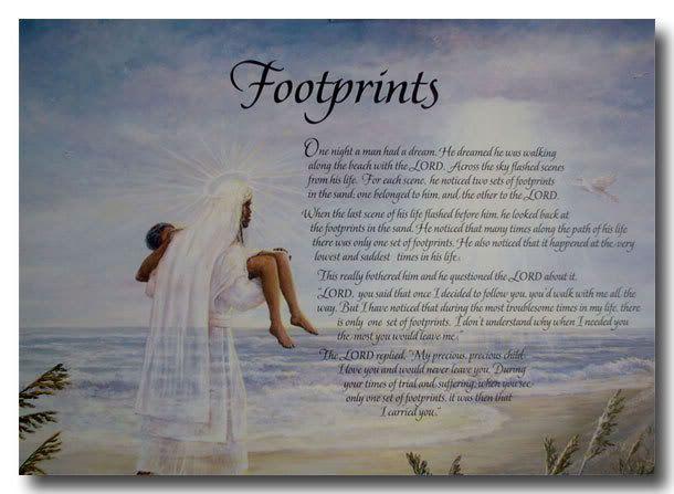 Poems poem footprints title footprints sand posters god poems