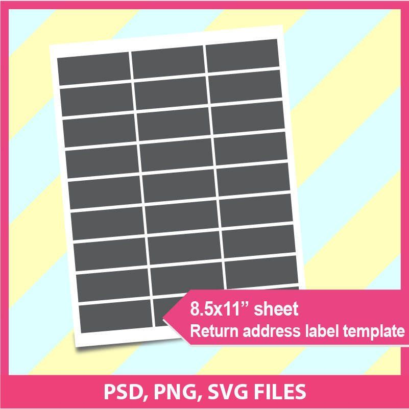 Return Address Label Template Psd Png And Svg Formats X