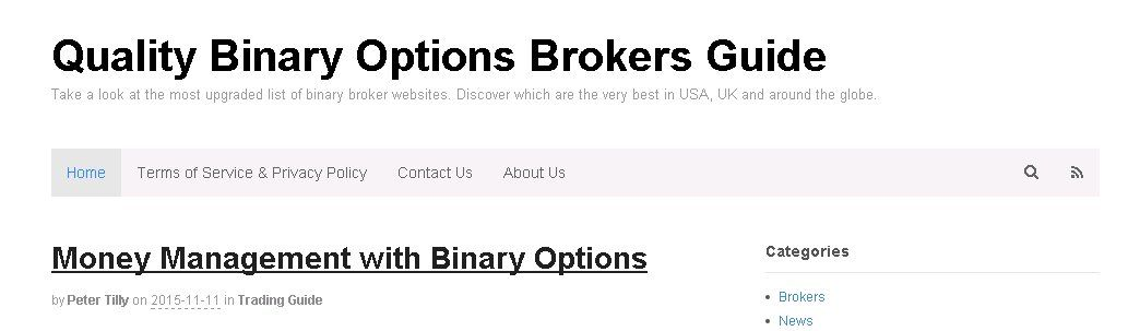 Looking for best binary options brokers ? We provide the most comprehensive list of trusted brokers,trading strategies,etc. http://binaryoptionsbrokersguide.com/