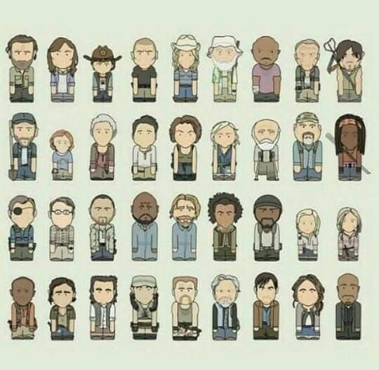 The Walking Dead Characters <3