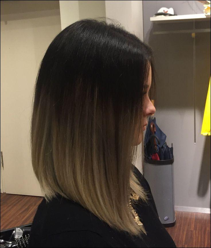 Longbob Grey Grau Schwarz Black Brown Braun Blonde Blond Balayage